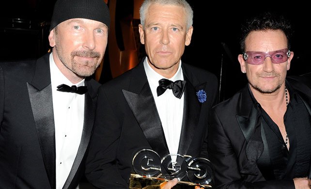 U2 groupe de l'année aux GQ Men of the Year Awards