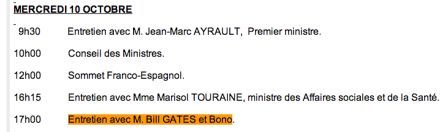 Bono invité à l'Elysée le 10 octobre prochain ?