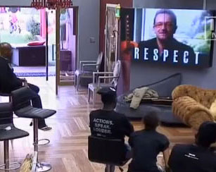 Bono fait la promotion de One dans l'émission Big Brother Africa