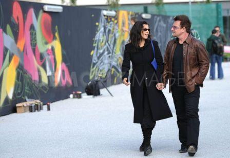 Bono et Ali au Festival d'Art urbain de Sandyford