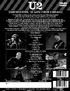 DVD U2 Vertigo//2005 Live From Chicago : le contenu