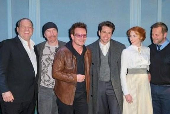 Bono et The Edge à la première de Finding Neverland