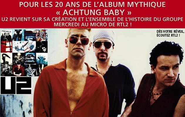 Journées spéciale U2 sur RTL2 mercredi 2 novembre