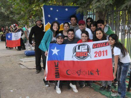 U2 au Chili : séances de reharsals et fans congelés ! (spoiler)
