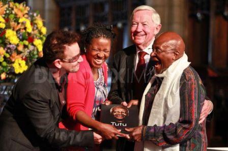 Bono à Cape Town pour les 80 ans de Desmond Tutu