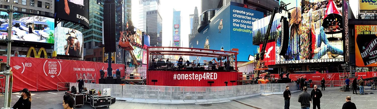 U2, sans Bono, en direct de Times Square ce soir pour RED