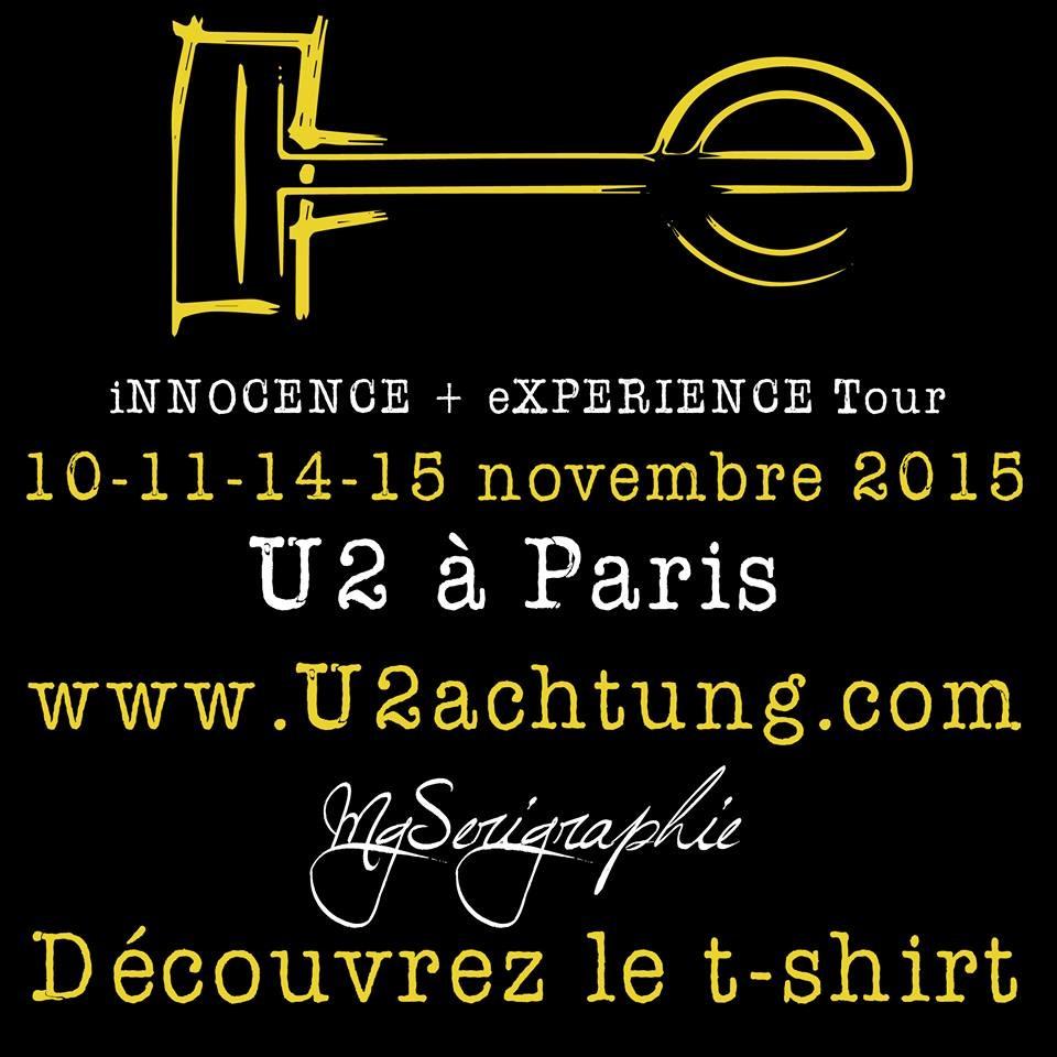 T-Shirt U2Achtung inédit pour Paris !