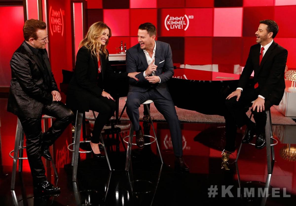 Bono chez Jimmy Kimmel pour (RED)