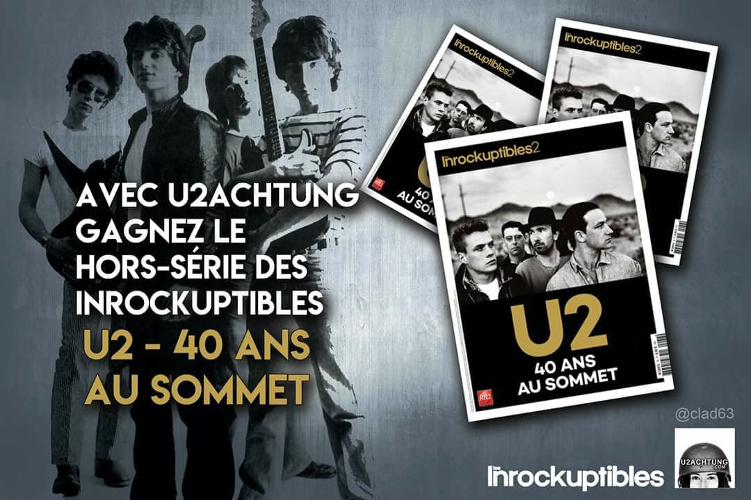 Gagnez votre hors série U2 des Inrocks
