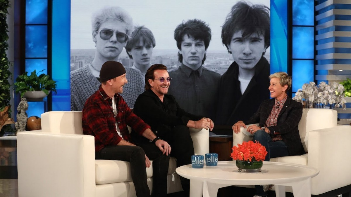 Bono et The Edge chez Ellen DeGeneres