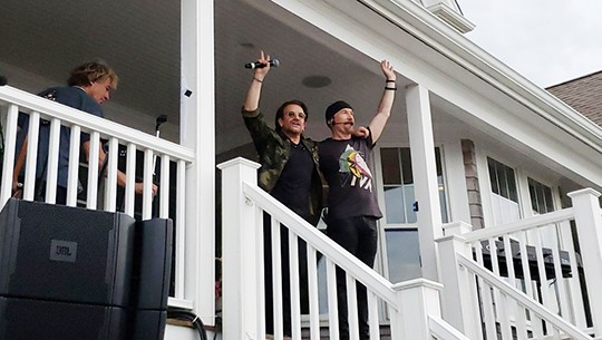 Bono et The Edge à The Beach House